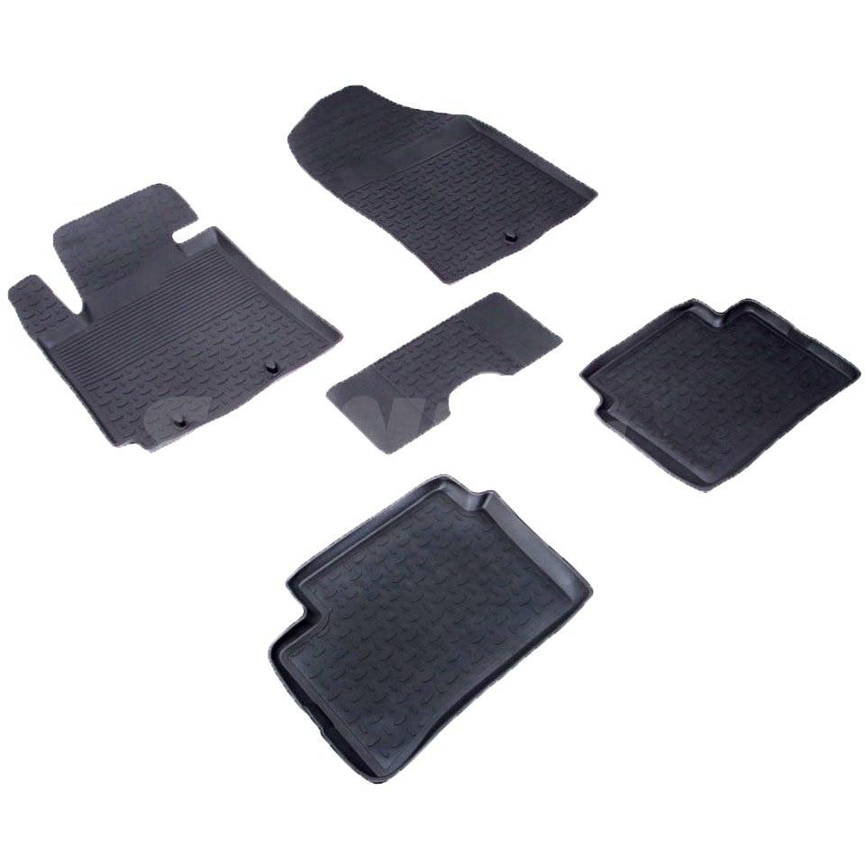 For Kia Picanto 2011-2016 rubber floor mats into saloon 5 pcs/set Seintex 82567 fast shipping 2pcs set led marker angel eyes kit for bmw e90 saloon e91 touring no canbus error