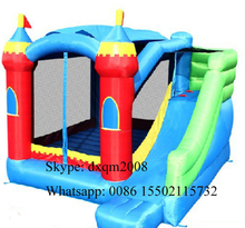 2016 colorful entertainment jumping bouncy inflatable slide and bouncer combo /outdoor and indoor playground