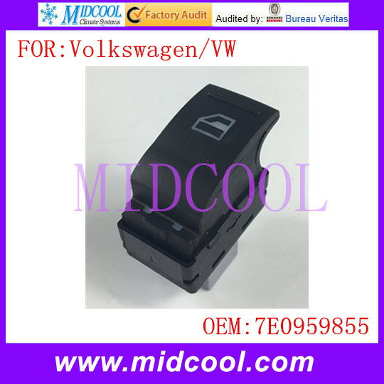 New Electric Power Single Window Switch use OE NO. 7E0959855 / 7E0 959 855 for Volkswagen VW Transporter T5 T6