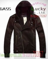 мужская обвинение кожа куртка горячая мода корея тенденция мужчины диагональ молнии куртки, мужчины пальто верхней клетке ml21 бесплатная доставка