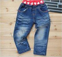бесплатная доставка! 5 шт./лот девочки / мальчики мультфильма микки ковбойские брюки джинсы хлопок джинсы детская одежда дети длинные брюки