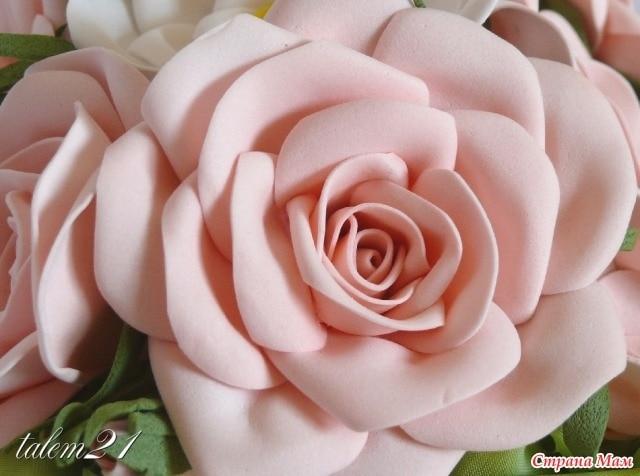 как сделать огромные цветы из фоамирана