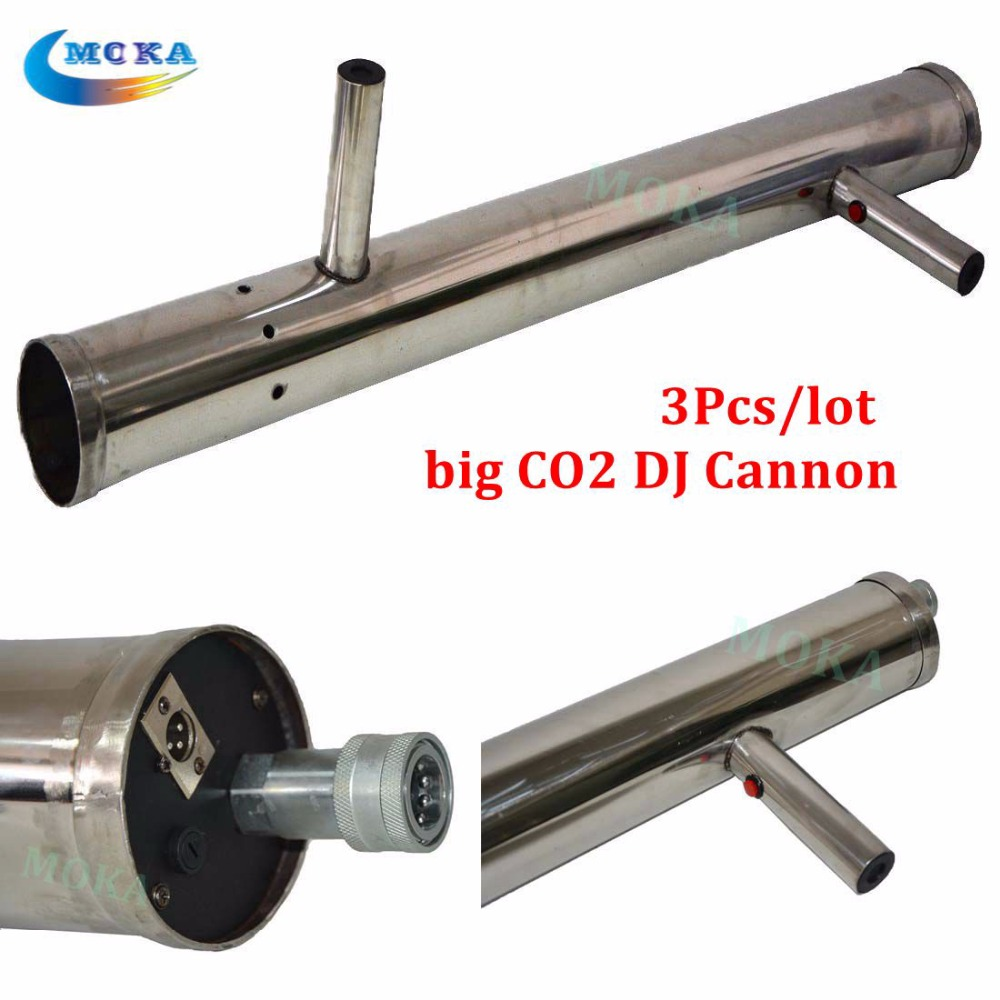 3pcs/lot CO2 Handhold dj Cannon DJ CO2 Gun For Wedding Party Stage Effect Lights High Quality co2 jet machine fog gun shooter 2016 new co2 jet machine moka mini co2 pistol handhold co2 gun fx stage effect machine for dj club with 3m hose