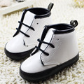 white baby leather shoes Lace-Up black border soft soled baby girl boots sneakers scarpe neonata chaussure garcon Jungen Schuhe