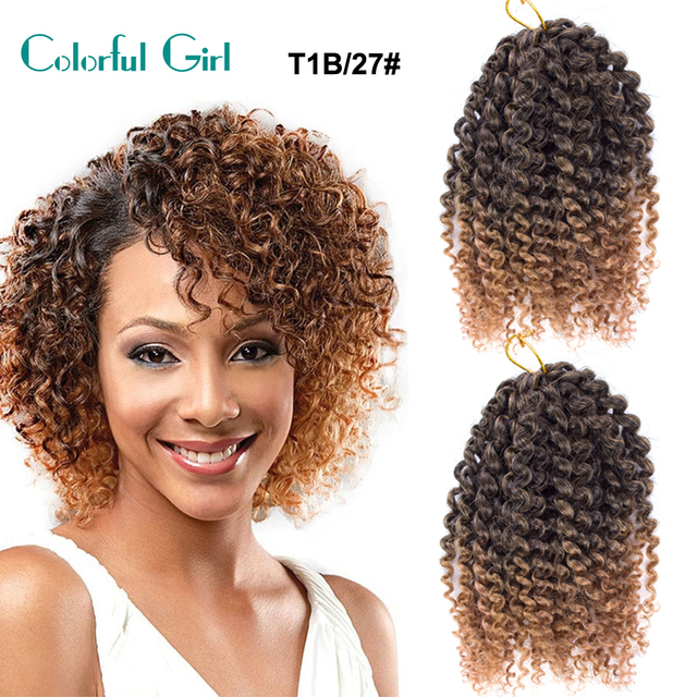 Senegal Twist Crochet Braid Hair Extension 8inch Short Curly Style Pre Braided Synthetic