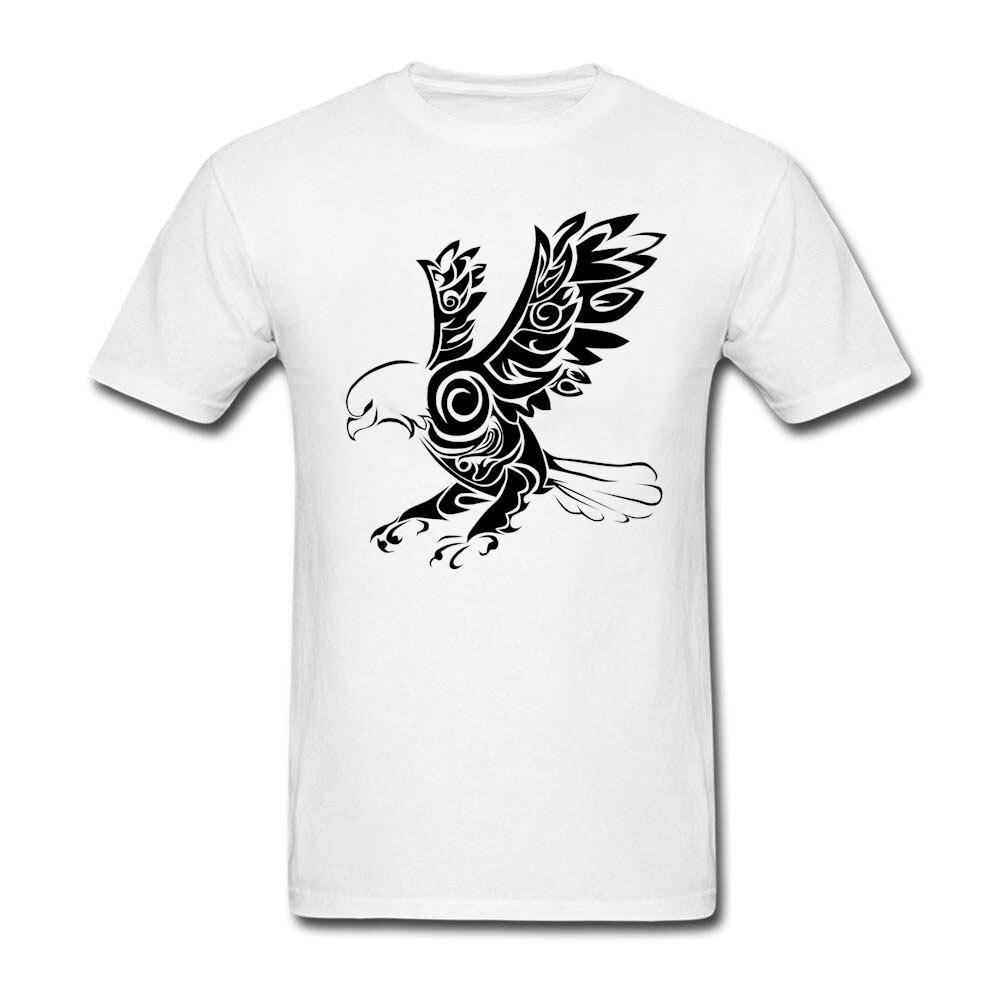 Design t shirt murah - Tribal Elang Tattoo Desain T Shirt Man Musim Panas Putaran Leher Murah Tee Dewasa Baru Kedatangan