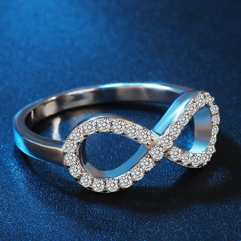 Moda 925 sterling zilver-srebro-nakit cz Infinity beskrajne ljubavi - Modni nakit - Foto 4