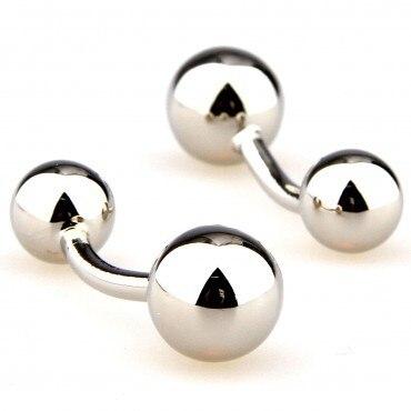 Серебряные запонки с бантом 15 пар