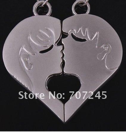 30 пар! в форме сердца Поцелуй Сплав пара металлический модный креативный брелок/свадебный подарок/переплетные гребенки и шипы