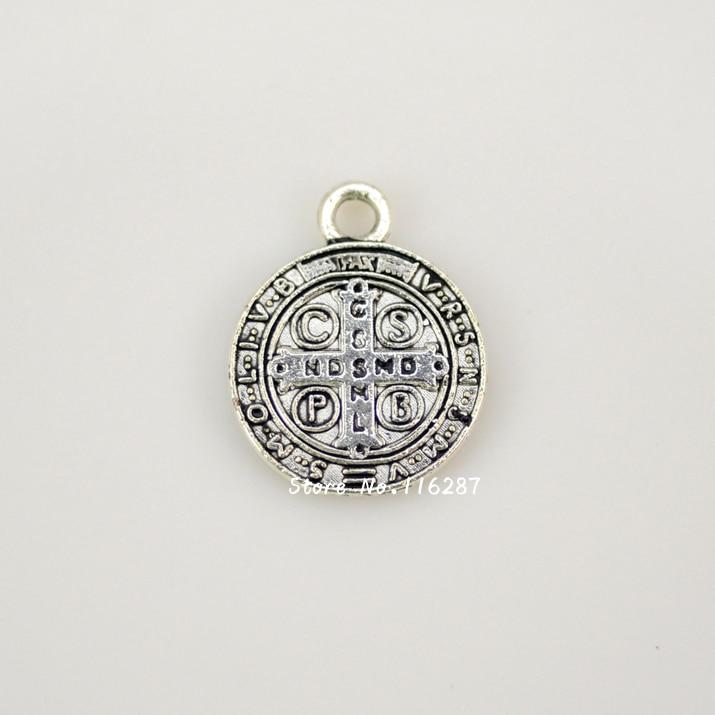 95f40dc686b Catholic Religious Gifts Evil Exorcism Protection St Benedict Mini Medal  nostalgia Charm Pendant zinc alloy free shipping