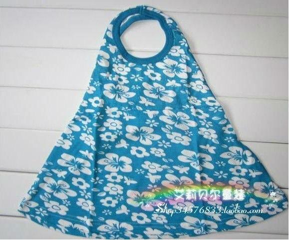 Новинка; Лидер продаж платье для девочек подходят от 2 до 7 лет детей пляжное платье 6 шт./лот же цвета все размеры