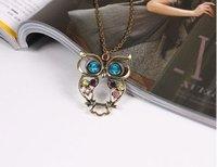 животное сова резные цепи ожерелья мода старинные для женщин ювелирные изделия шарм n024 Б1.6