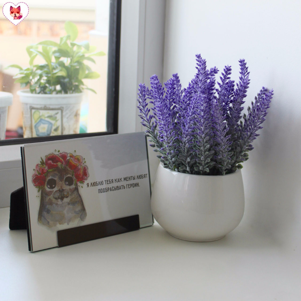 Miz Home Lavender Artificial Flower Potted Decor for Home Good Quality Wholesale and Retail
