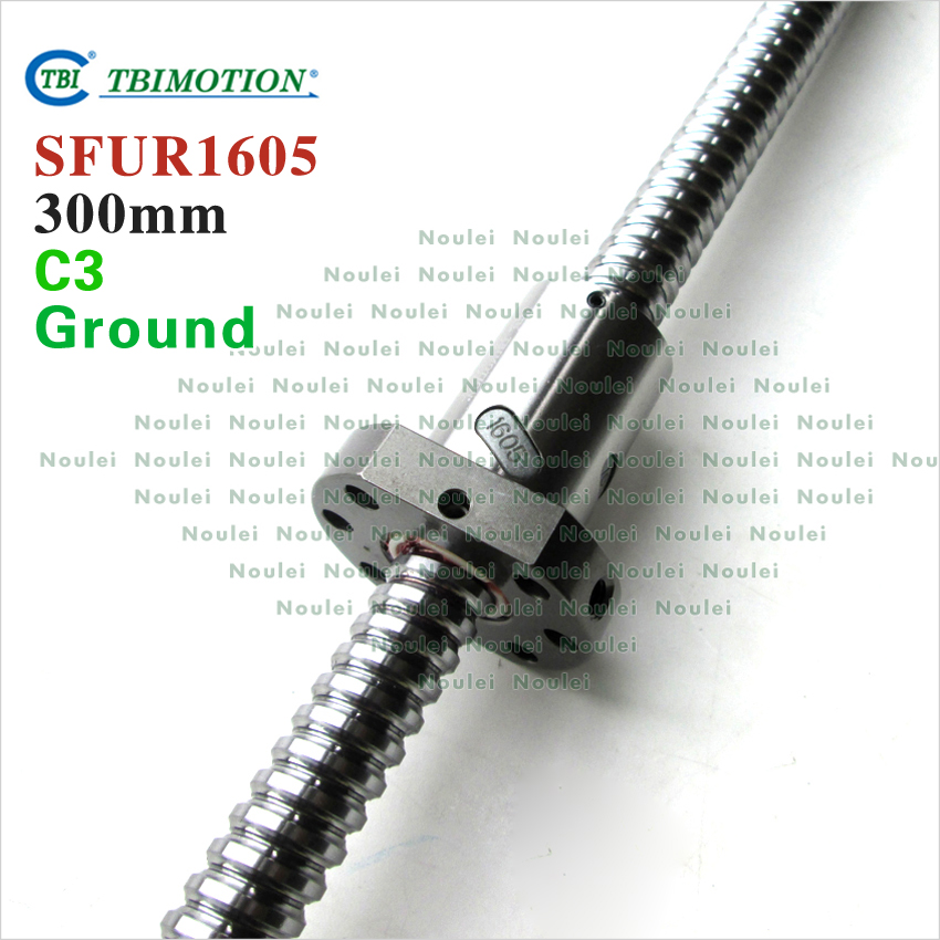TBI 1605 C3 300mm ballscrew with SFU1605 ball nut + end machined for BK12 BF12 high precision CNC kit SFU set горелка tbi sb 360 blackesg 3 м