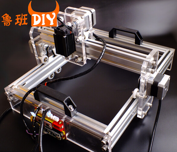 DIY desktop laser engraving machine marking machine cutting plotter new 15w 12v4a laser engraving machine small marking machine picture desktop cutting plotter laser cutting machine 140mm 200mm