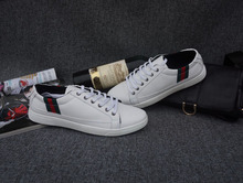 Wholesale Casual Shoes Boys White Men Shoes New Brand Shoes Genuine Leather Deodorization Massage