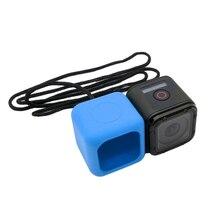 GoPro Session Интимные аксессуары Резиновая Мягкий силиконовый чехол крепление для Go Pro Hero 4 сеанса HD + Цепочки и ожерелья шнурки красочные gp335