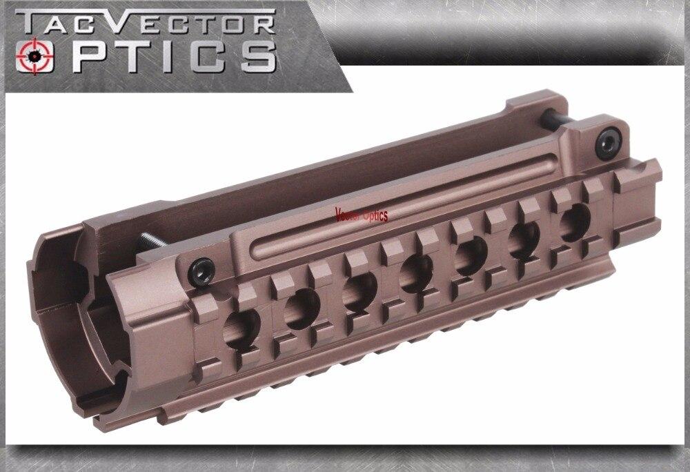 Optique vectorielle H & K MP5 tactique Triple Picatinny Rails système de montage de garde-mains Compact Brunt couleur Bronze pour Heckler & Koch