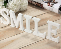 free Standing 10cm White LOVE Decorative Artificial wood Wooden Letter Alphabet A-Z Wedding Gift decoration White wood letters