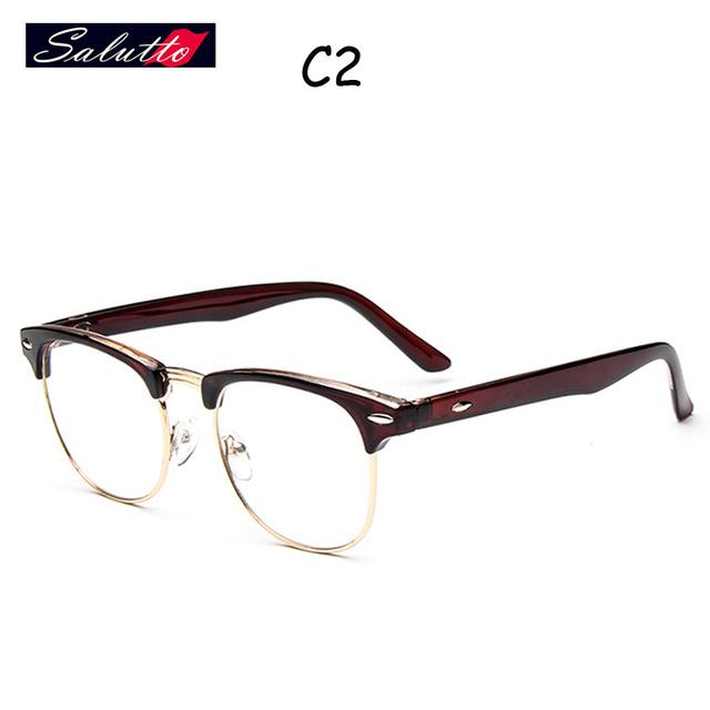 SALUTTO Unisex Do Vintage Metade Aro de Metal Armações de Óculos de Marca Prescrição de Óculos de Nerd Montures de Luneta 2016 Moda