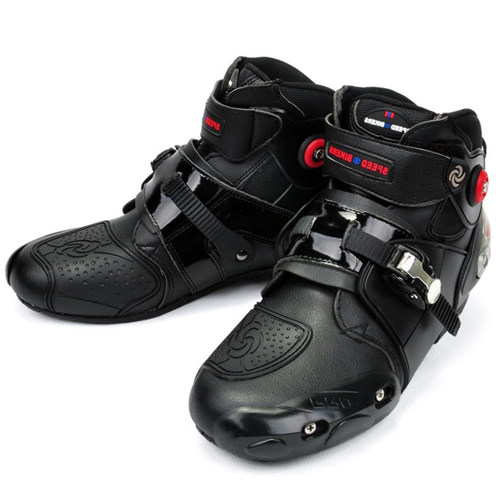 Prix pour Moto Bottes PRO-BIKER Haute Cheville Racing bottes MOTARDS en cuir course Motocross Moto Équitation bottes Chaussures pour femmes hommes chaussures