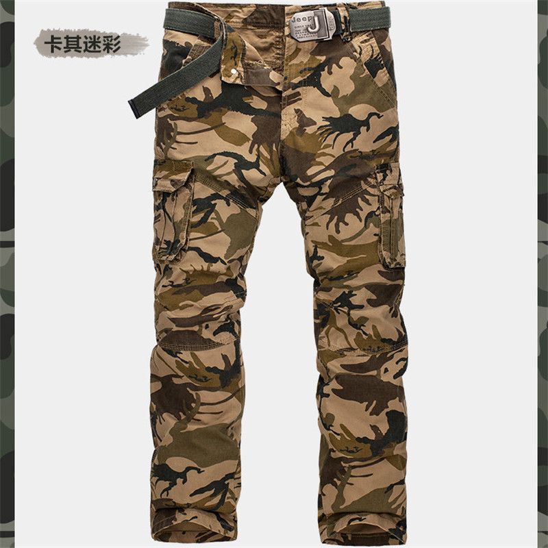 New Arrival Men s Camouflage Casual Cargo Pants Military Camo Multi Pocket Pants For Men Pantalones