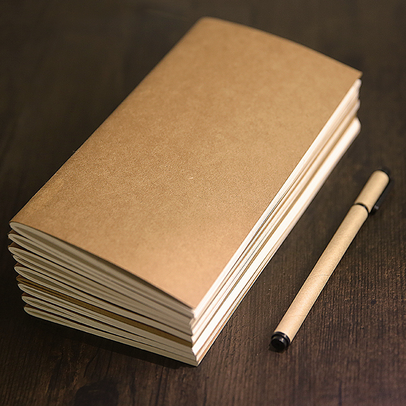 Travelers Notebook Inserts Lined <font><b>100gsm</b></font> Thick Standard Size Ruled Refill, Perfect for Archiving, Travel Notes image