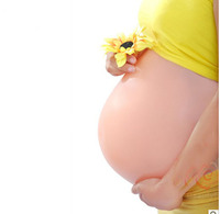 1PCS 8 10 Month Silicone Fake Belly Artificial Baby Tummy Pregnant Bump Free Shipping