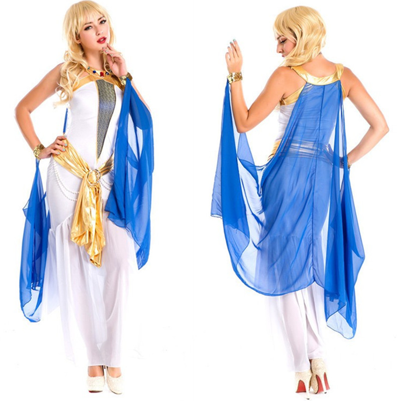 Costumes grecs femmes blanc Sexy indien déesse égyptienne robe de princesse arabe Costumes d'halloween Cleoptra reine Cosplay robe