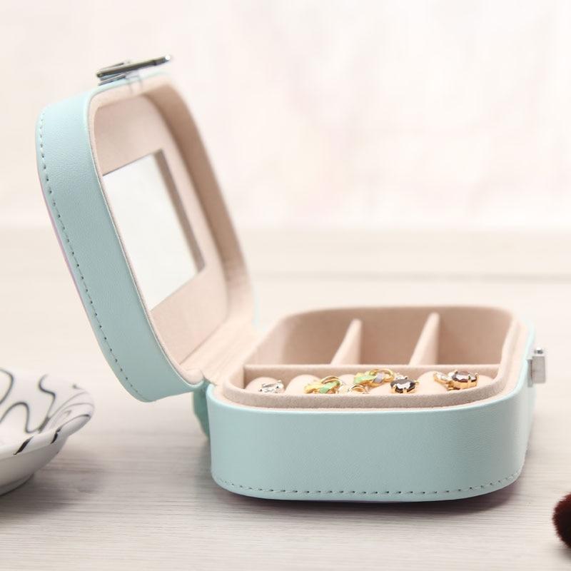 Caja de almacenamiento de joyería de PU de color caramelo Caja de - Organización y almacenamiento en la casa - foto 3