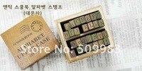 милый 28 шт. алфавит марка марка дневник древесины печать оптовая продажа бесплатная доставка