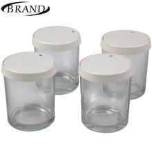 Стаканчики стеклянные для йогуртницы BRAND4001, набор состоит из 4 шт * 200мл. пластиковая крышка с индикатором даты