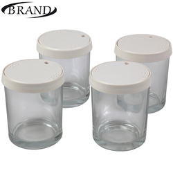 Glasses cups 4001 for Yogurt maker, 200 ml*4 pcs, plastic cover, date of expiry indication