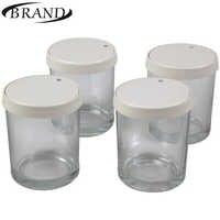 Vasos de gafas 4001 para Yogurt maker, 200 ml * 4 piezas, cubierta de plástico, fecha de indicación de caducidad