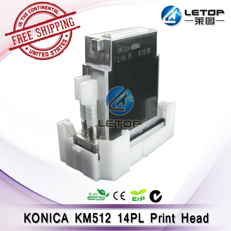 цена Free shipping ! solvent printer konica head 512 printhead 14pL for solvent inkjet printer