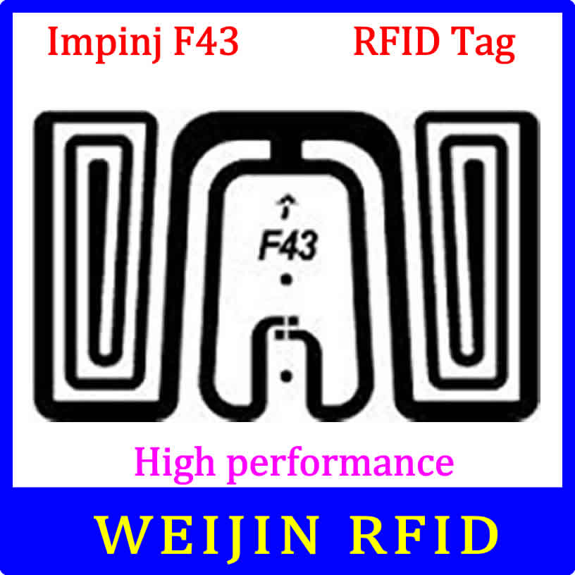 UHF RFID tag Impinj F43 dry inlay 915mhz 900mhz 868mhz 860-960MHZ  EPCC1G2 ISO18000-6C smart card passive RFID tags label 860 960mhz long range passive rfid uhf rfid tag for logistic management
