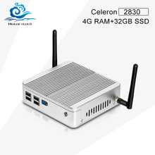 Fanless Small System X30-N2830 Celeron Dual Core Mini PC Windows 7  W10 mini cpu 4G RAM 32G SSD Fanless Computer With VGA/HDMI
