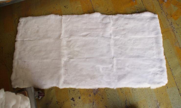 Peau de fourrure de lapin tanné Rex pour vêtements fourrure de lapin Rex