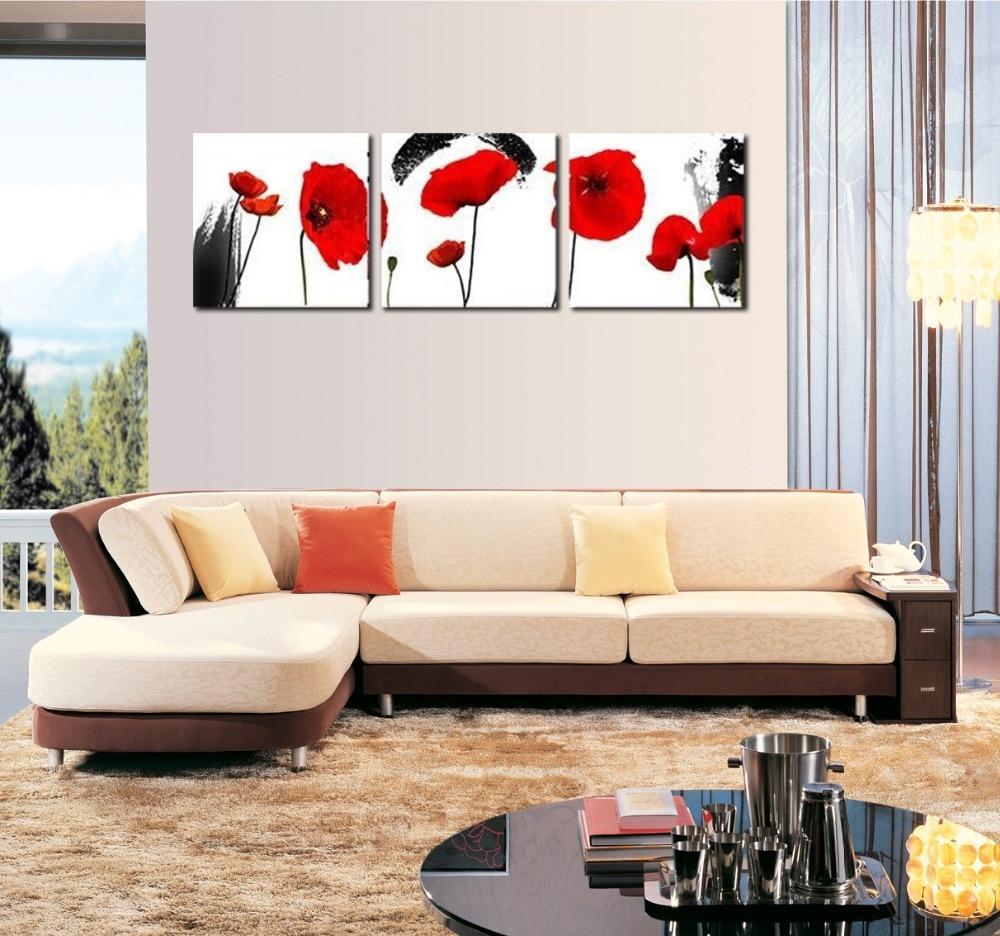 Red poppy schilderijen koop goedkope red poppy schilderijen loten ...
