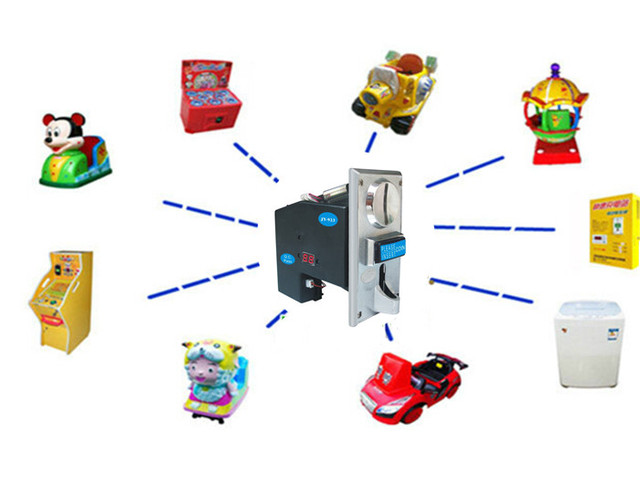 CH-924 multi coin selector acceptor, accept 1-4 kinds of coins or tokens, support multi coins with only 1 output