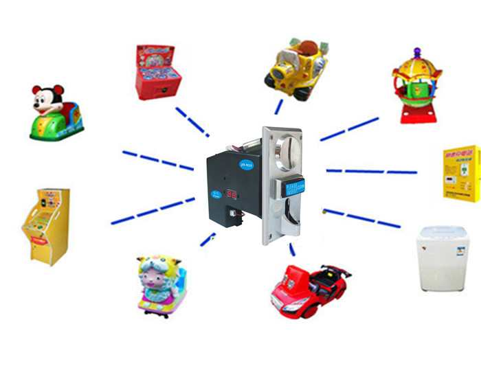 multi coin selector acceptor accept many kinds of coins or tokens support multi coins with only