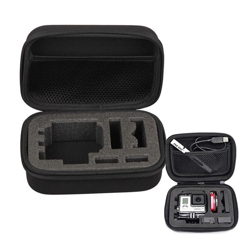 Estuche de almacenamiento protector de alta calidad para accesorios Gopro para cámara de acción Hero5/4/3 +/3 sjcam xiaomi yi Eken h9 H9R