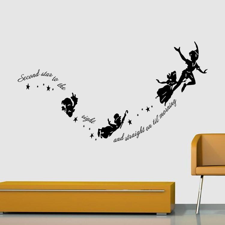 Aliexpress Buy Peter Pan Wall Decal Sticker Home Decor Kids