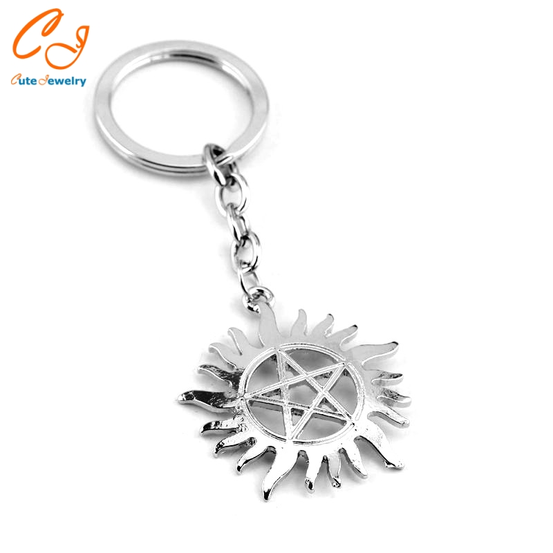 Supernatural Symbol Logo Metal Key Ring Keychain Key Chains
