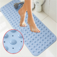 New Non Slip Bath Mat Massage With Sucker PVC Shower Mat For Bathroom Toilet Bathroom Carpet