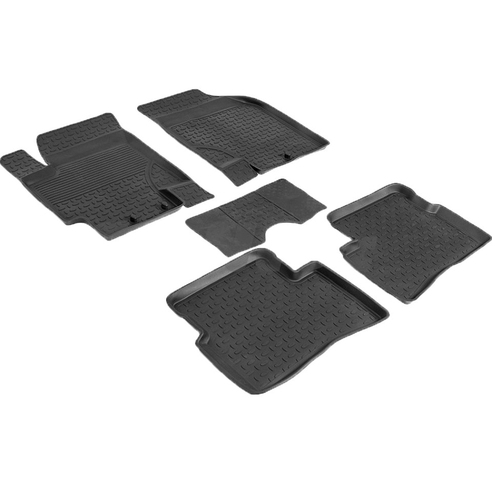 For Kia Rio 2005-2010 rubber floor mats into saloon 5 pcs/set Seintex 82207 автомобильный коврик seintex 82207 для kia rio ii 2005 2011