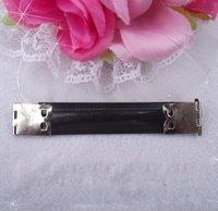 30 шт./лот 8.5 см серебристого металла внутреннего гибкого рамка для поделки кошелек кошельки кошельки весна Флекс кошелек кадр серебро 3.3 дюймов