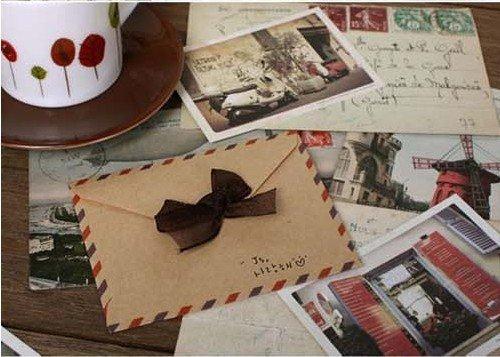 Retro Style Kraft Envelop Mini Gift Envelop 4 Differnent designs 360pcs/lot Free shipping