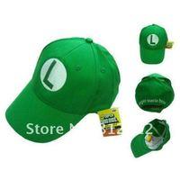 супер марио костюм шляпа аниме косплей зеленый Cap