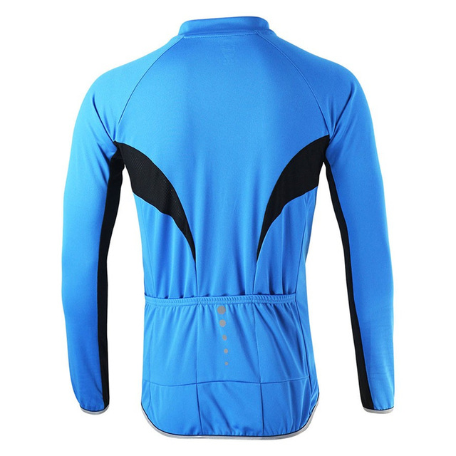 ARSUXEO 6022 Men's Summer Long Sleeve Cycling Jersey Bike Bicycle MTB Outdoor Sportswear Clothing Shirt-Fluorescent Green